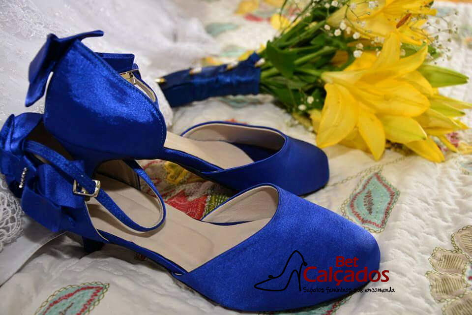 27eb1eca85 Sandália Azul Royal salto 4cm no Elo7 | Bet Calçados (6F89BE)