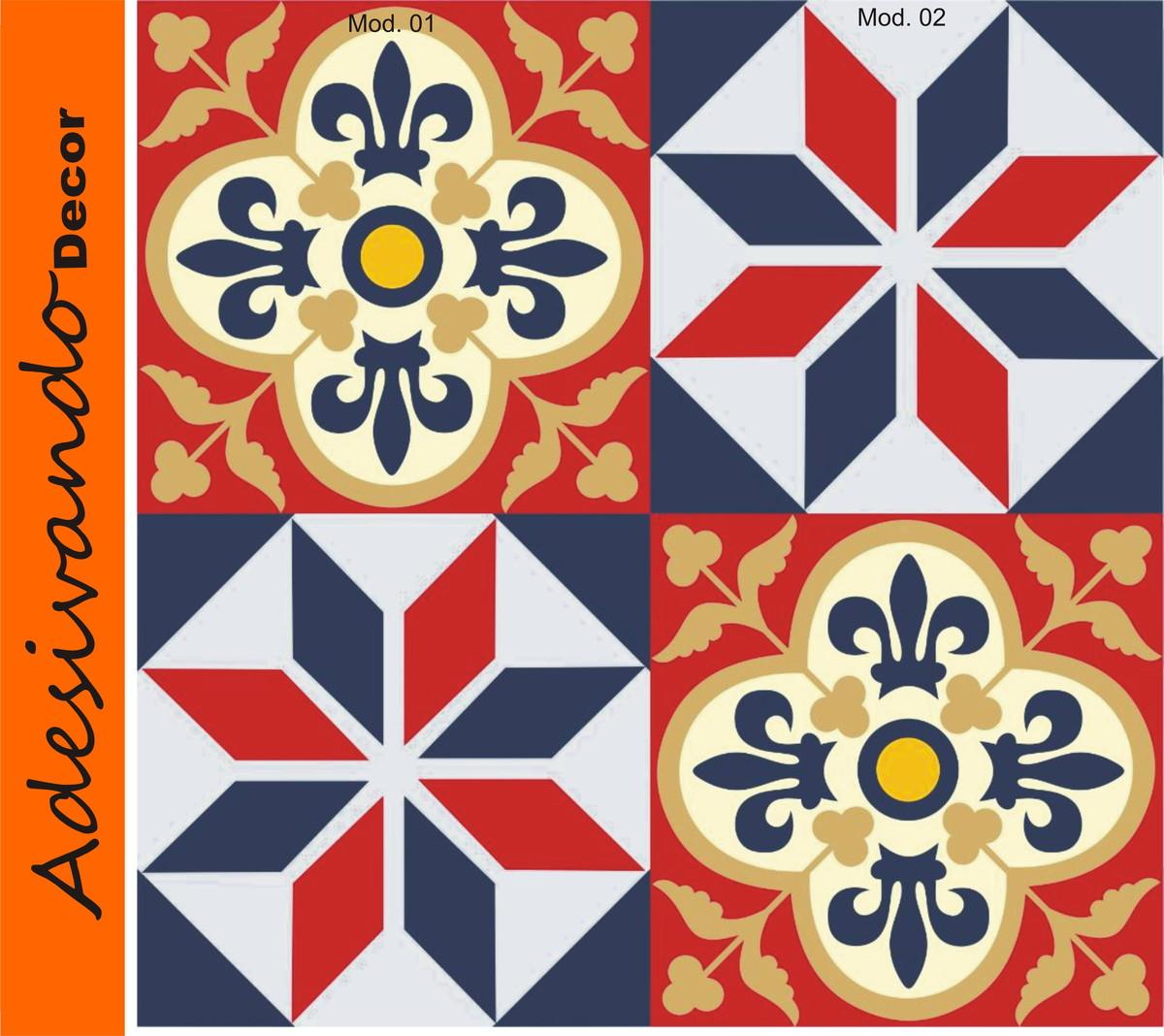 adesivo azulejo portugues 15x15cm adesivo de banheiro adesivo azulejo  #C75104 1200x1068 Azulejo Vinilico Banheiro