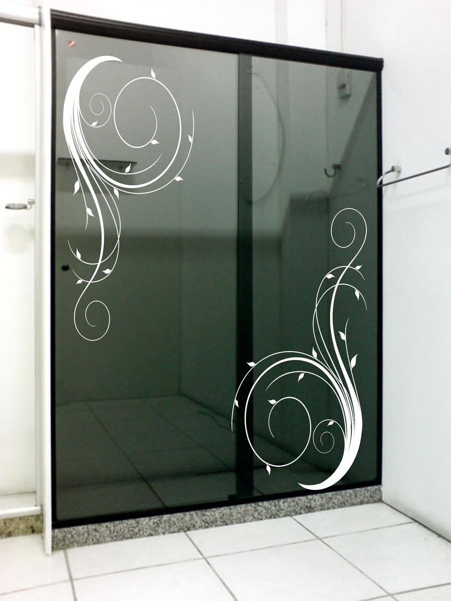 Adesivo box decoraç u00e3o banheiro espelho no Elo7 Adesivos Sempre Viva (6F917B)