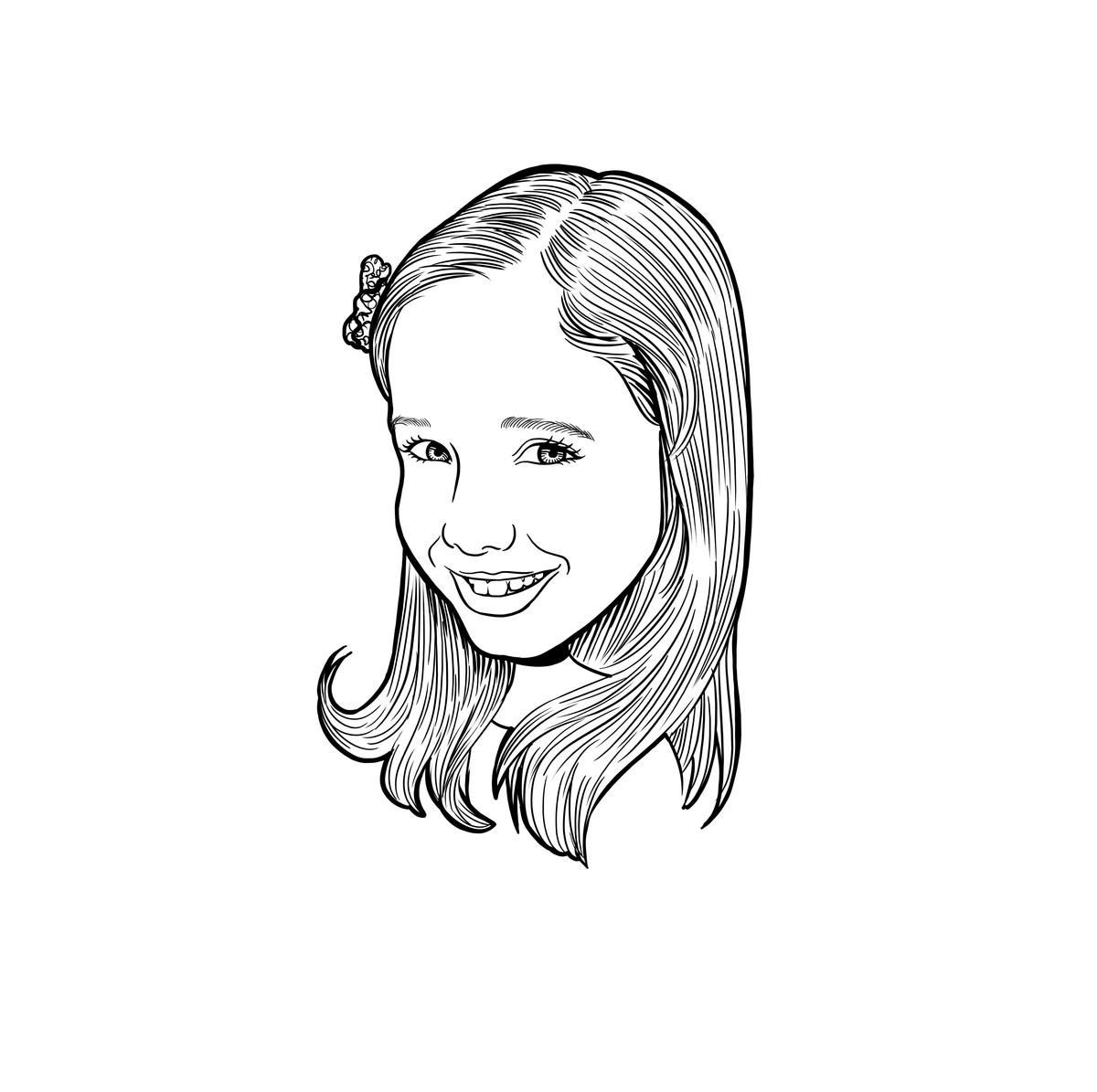 Desenho Digital De Rosto Em Preto E Branco No Elo7 Joao