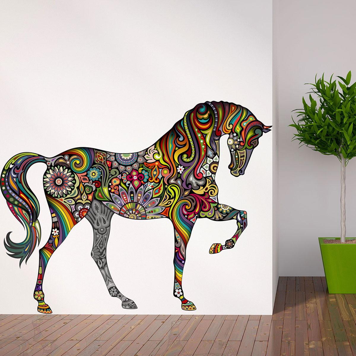 Cavalo Colorido Adesivo No Elo7 Aarte Decoor 6fbdfe  -> Fts De Cavalo Rm Adesivo Pra Quarto