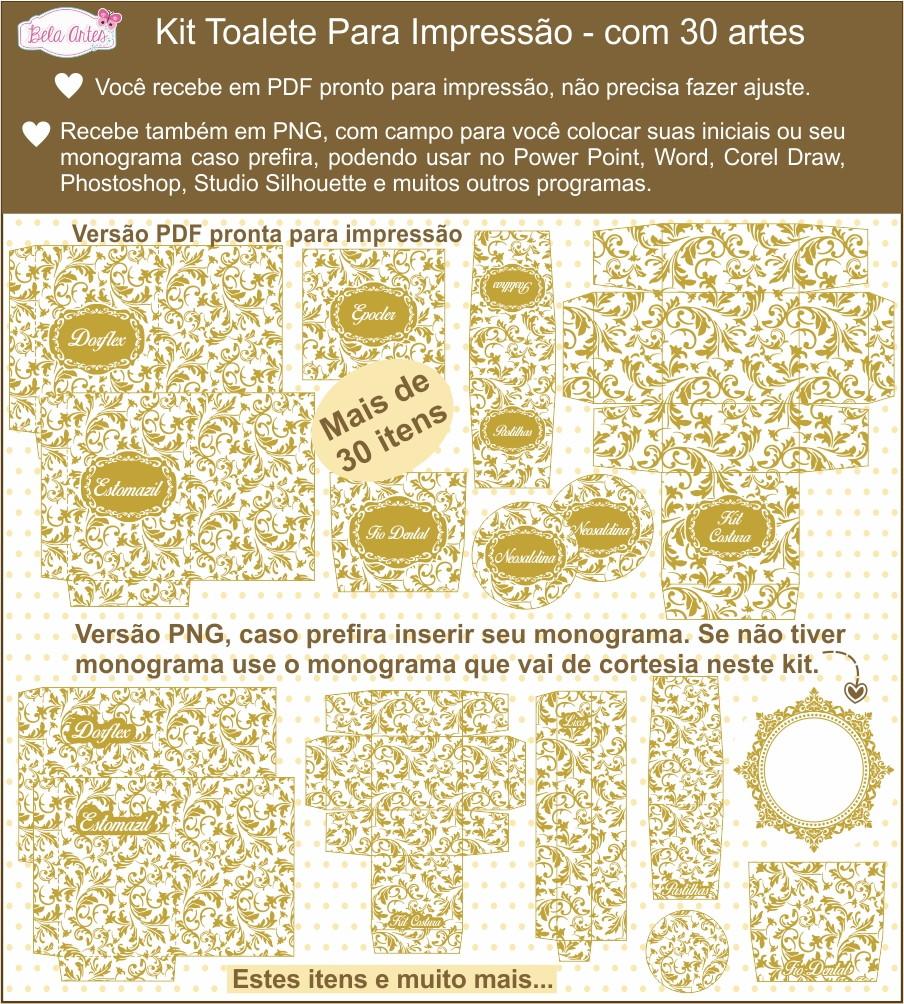 Kit Toalete Pronto P Imprimir Pdf Png No Elo7 Bela Artes