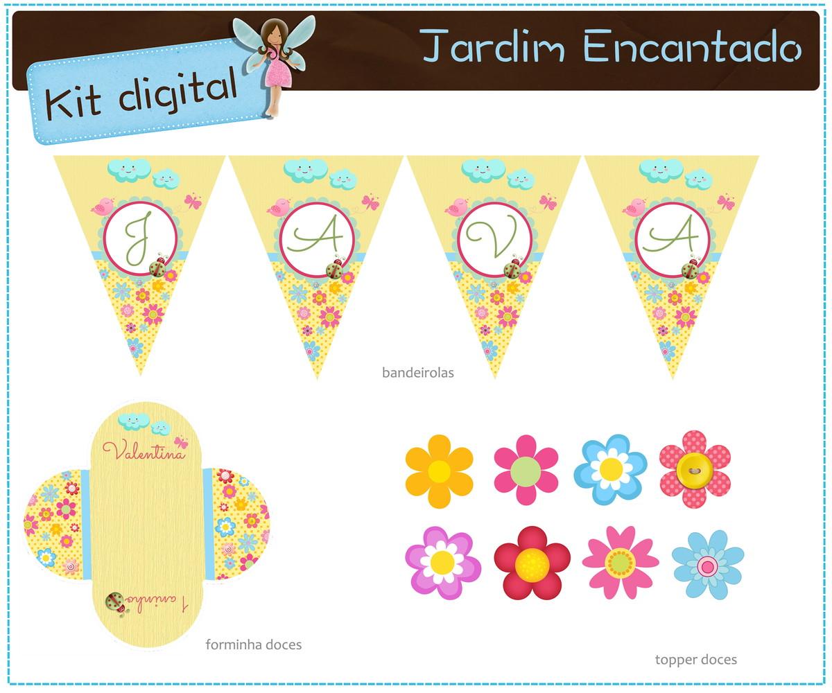 Kit Digital Jardim Encantado Para Imprimir No Elo7 Atelier