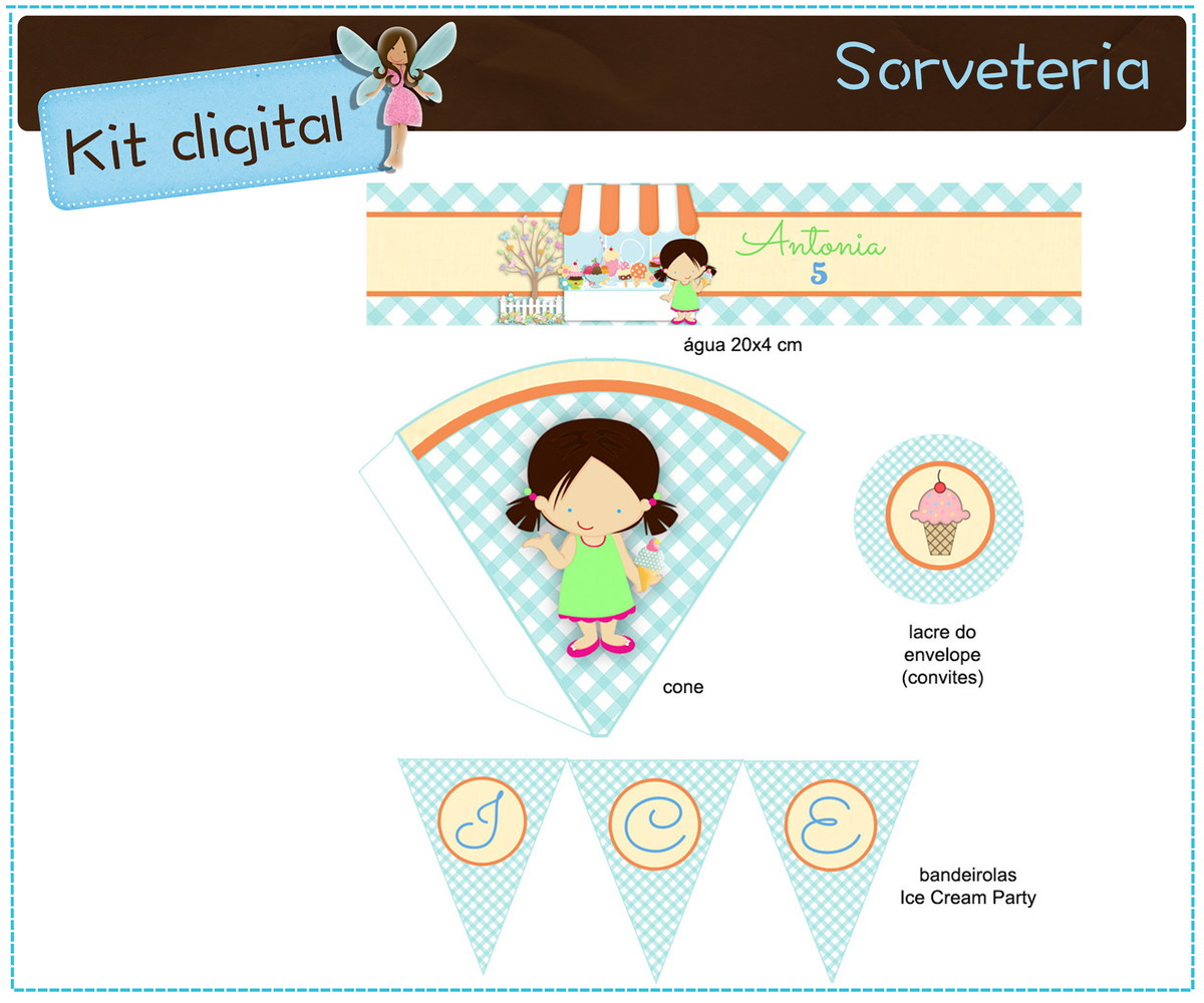 kit digital sorveteria para imprimir no elo7 atelier doces mimos
