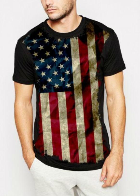 9596dfb88e Camiseta Band. Estados Unidos Masculina no Elo7