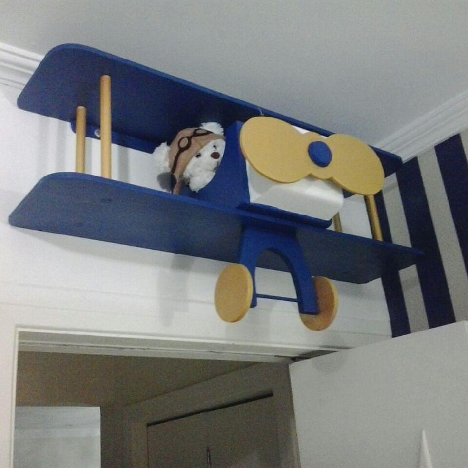 Avião prateleira decoração quarto bebe  Loja da Bianca  Elo7
