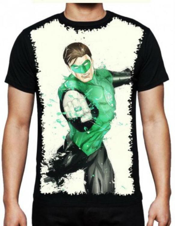 Camiseta Lanterna Verde Masculina no Elo7  15622cac1ecdd