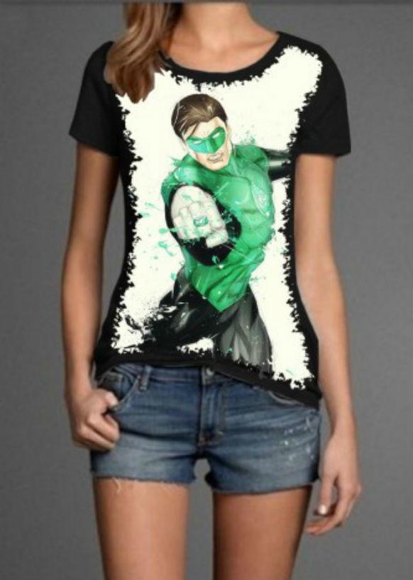 Camisa Feminina Lanterna Verde no Elo7  88af0c3783b53