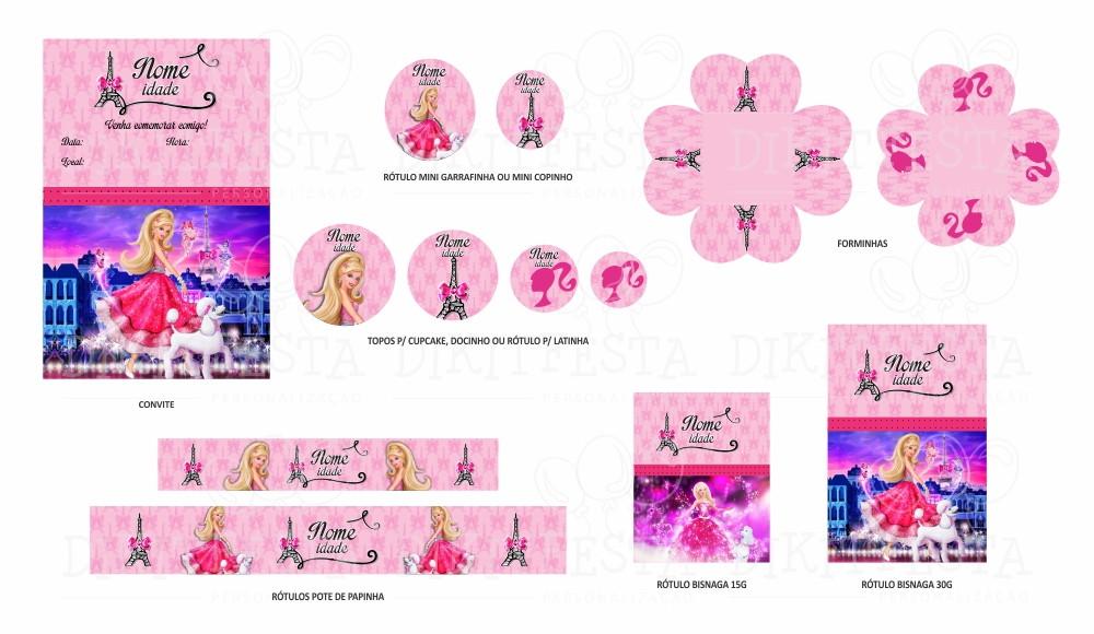 Barbie Moda E Magia Kit Digital 25 Peças No Elo7