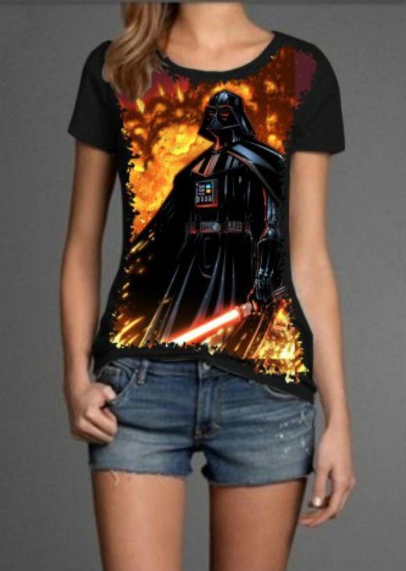 375fa8621 Camiseta Darth Vader Feminina no Elo7
