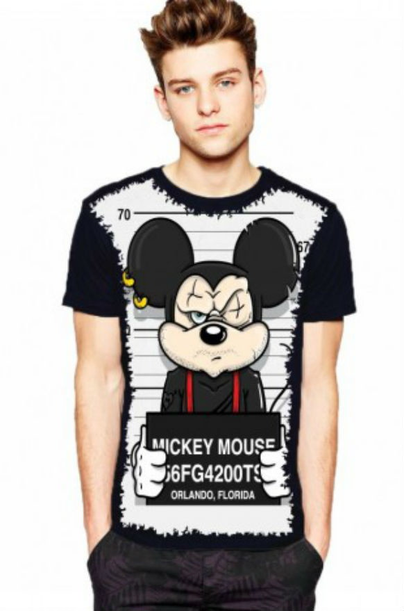 c562af38f Camiseta Mickey Preso Masculina no Elo7