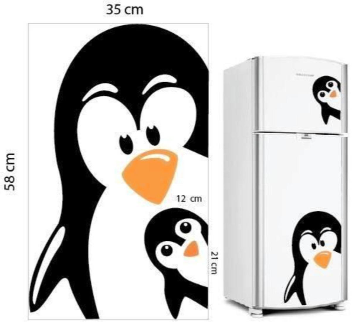 Aparador Baixo Mdf ~ Adesivo Geladeira Pinguim Lv Adesivos e Estampas!!! Elo7