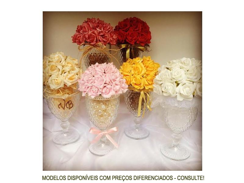 Enfeite De Taça ~ Taça de vidro c flor de EVA OURO REF PRESENTE COM CARINHO Presentes e decoraç u00e3o Elo7