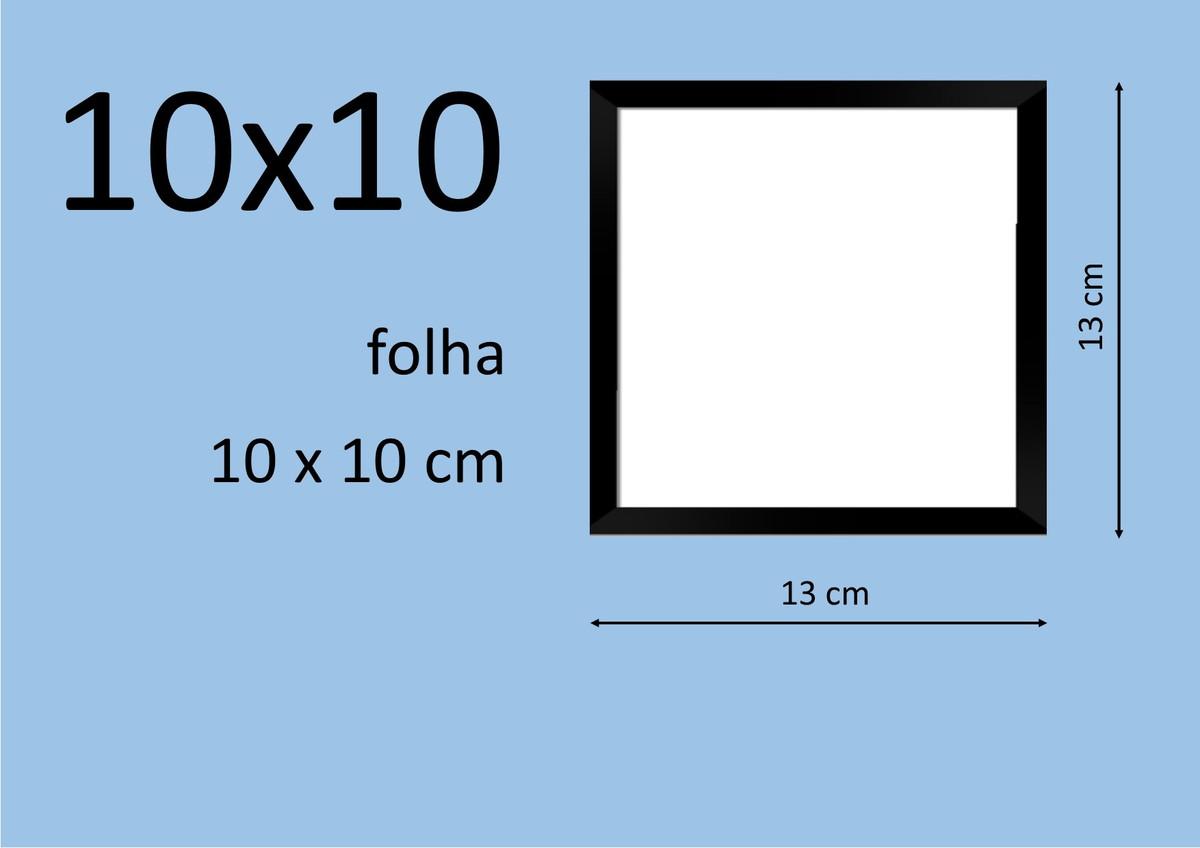 moldura quadrada 10x10 cm preta no elo7 efsuprimentos 68cdf2