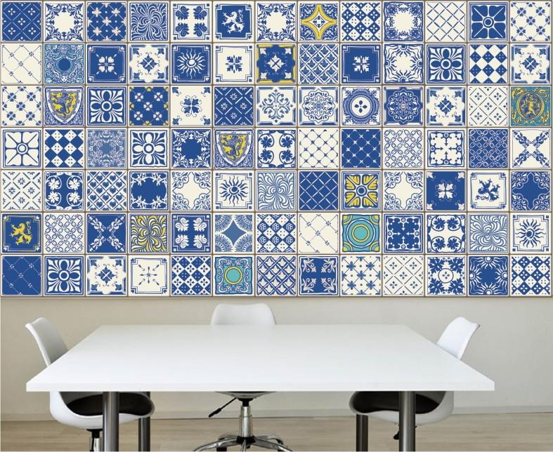 Adesivo cozinha azulejos decorativos m04 for Azulejos decorativos
