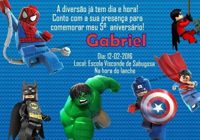 Convite Super Heróis Lego No Elo7 Palácio Festas Brinquedos 70f7ce