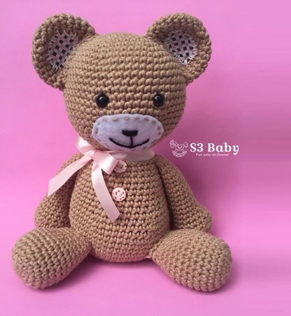 Urso Aviador Amigurumi - R$ 120,00 em Mercado Livre | 630x580