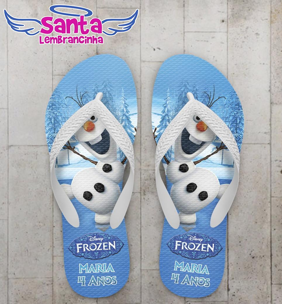 3a727a5812 Chinelo Infantil Frozen no Elo7
