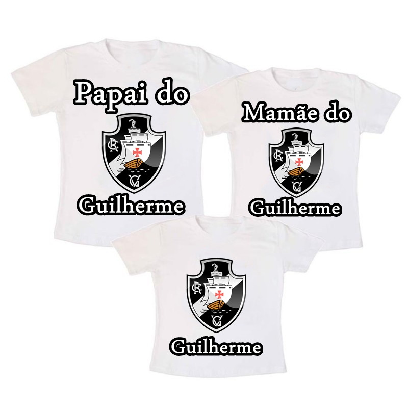 Kit 3 Camiseta Aniversario Vasco no Elo7  ff8e847578721