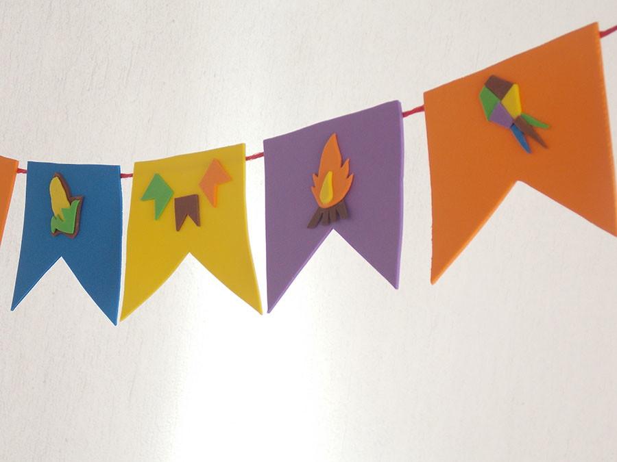 Bandeirinha Decorada Festa Junina E V A No Elo7 Lm Artes E