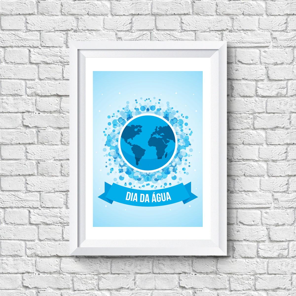Quadro Do Dia Internacional Da água No Elo7 Quero Quadro 71c985