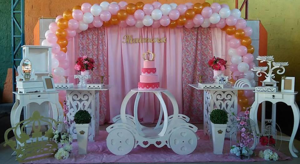 Decoraç u00e3o Festa Realeza Princesa no Elo7 Rede Festas Decorações (71DA9A) -> Decoração De Aniversario Princesa Realeza