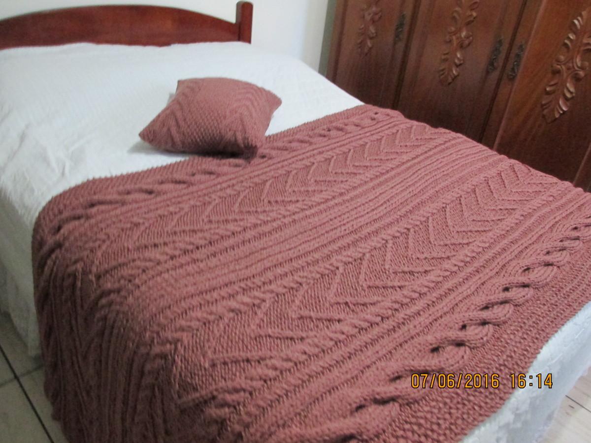 Manta de tric irland s para cama king no elo7 atelier - Ikea mantas para camas ...