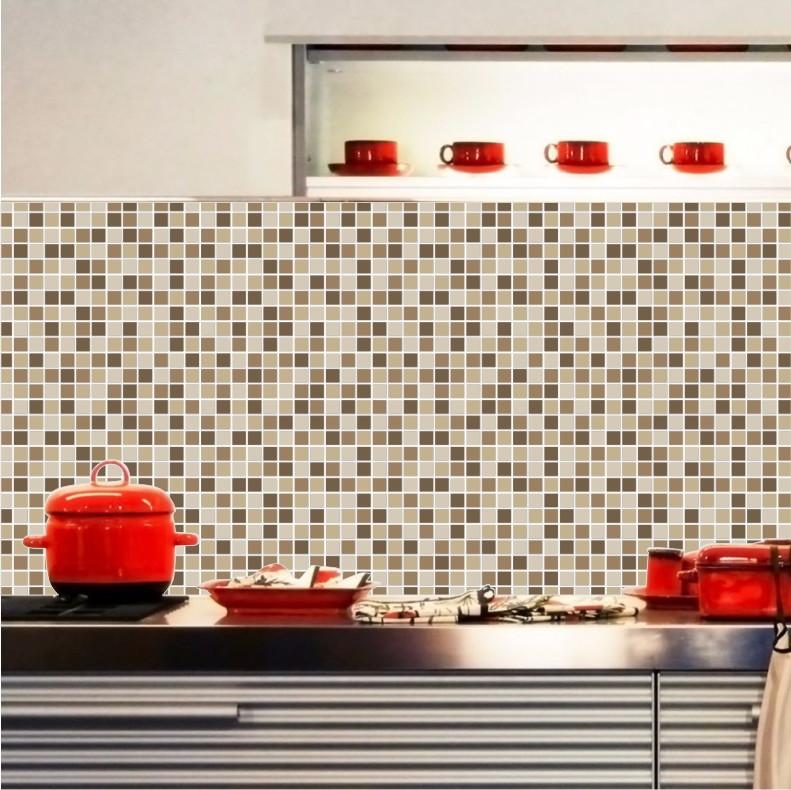 Artesanato Tecido ~ Papel de Parede Pastilhas cozinha M14 no Elo7 QuartinhoDecorado (72369C)