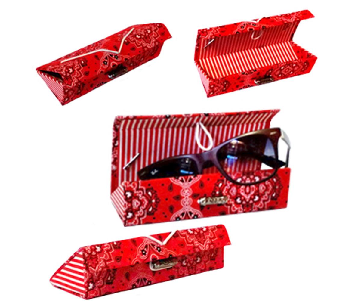 d48833f4739a3 Porta Óculos vermelha cartonagem no Elo7   Cariokines (723C74)