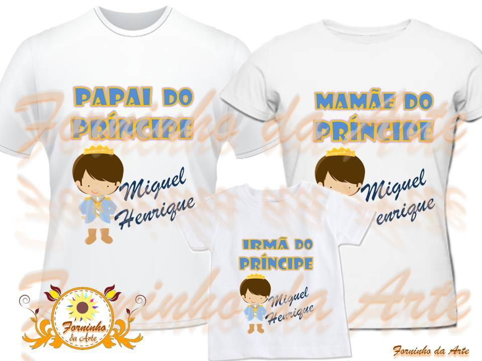 a0586e1455 Camisetas Personalizadas kit 3 peças no Elo7