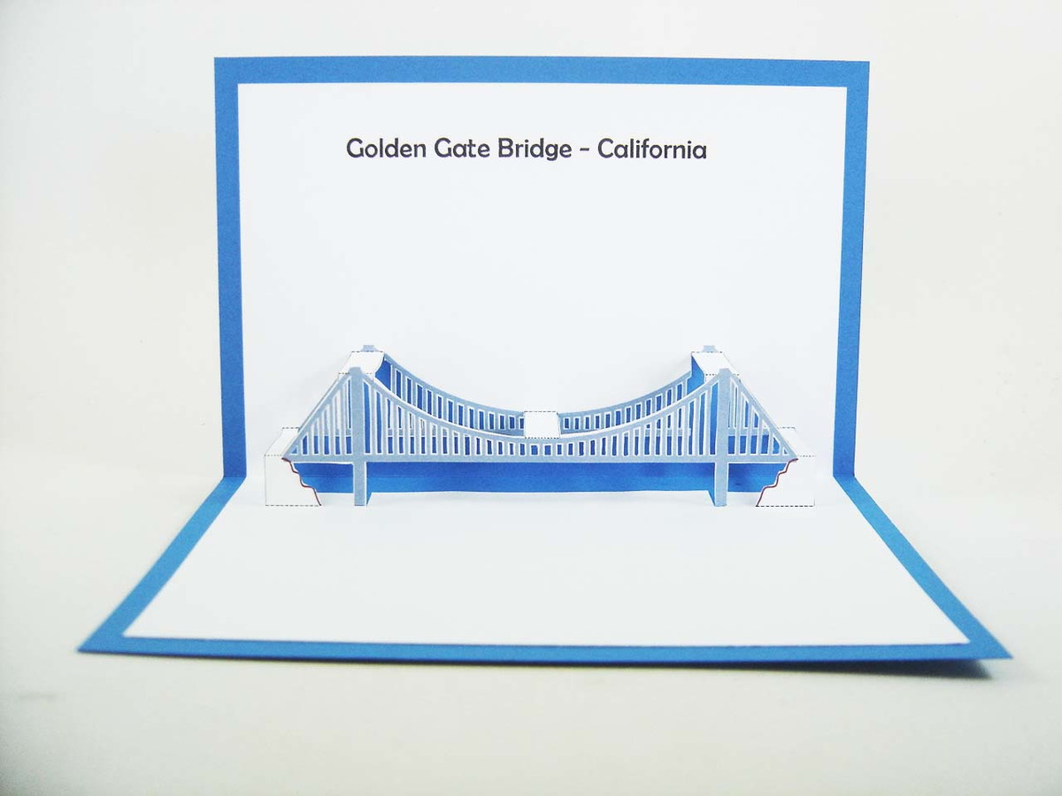 Golden gate bridge carto cd10530 no elo7 kirigami 726f0c zoom golden gate bridge carto cd10530 ccuart Choice Image