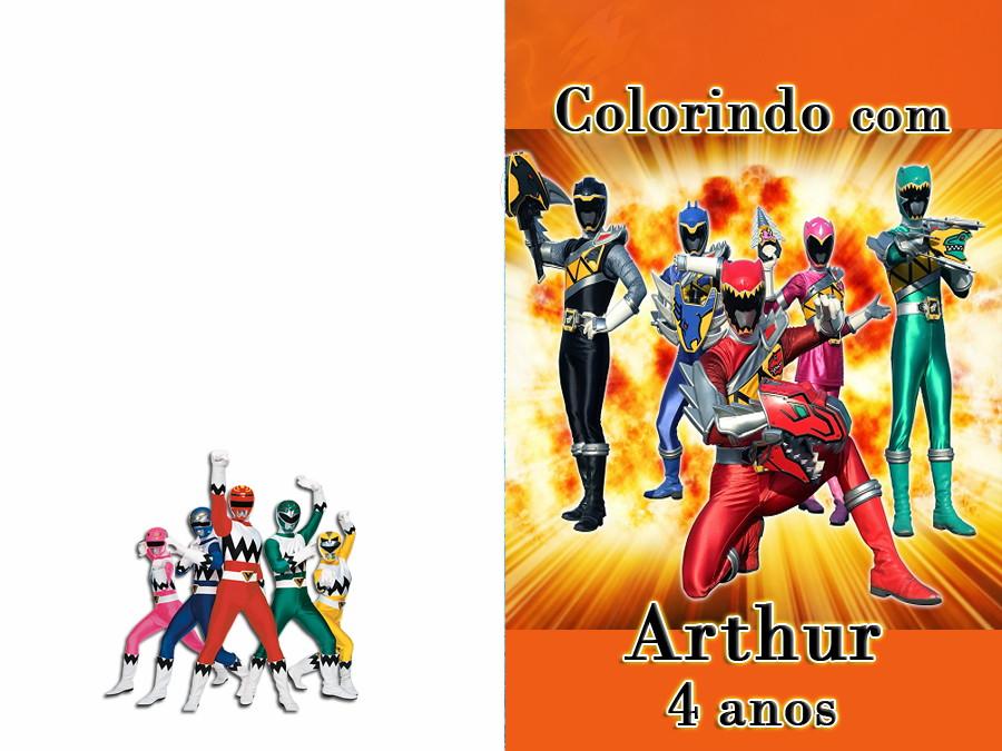 Revista Colorir Power Rangers 14x10 No Elo7