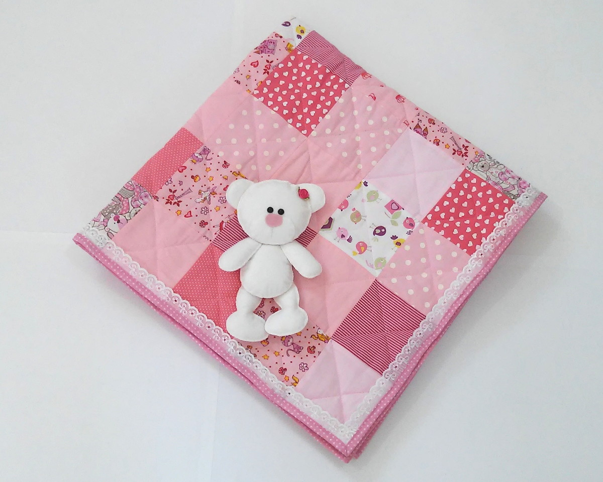 zoom para beb patchwork rosa