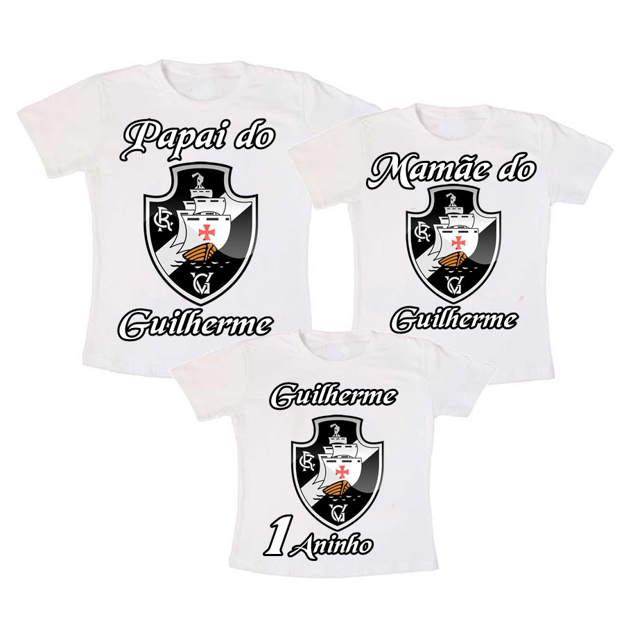 Kit 3 Camiseta Vasco Aniversario no Elo7  99628c146c798