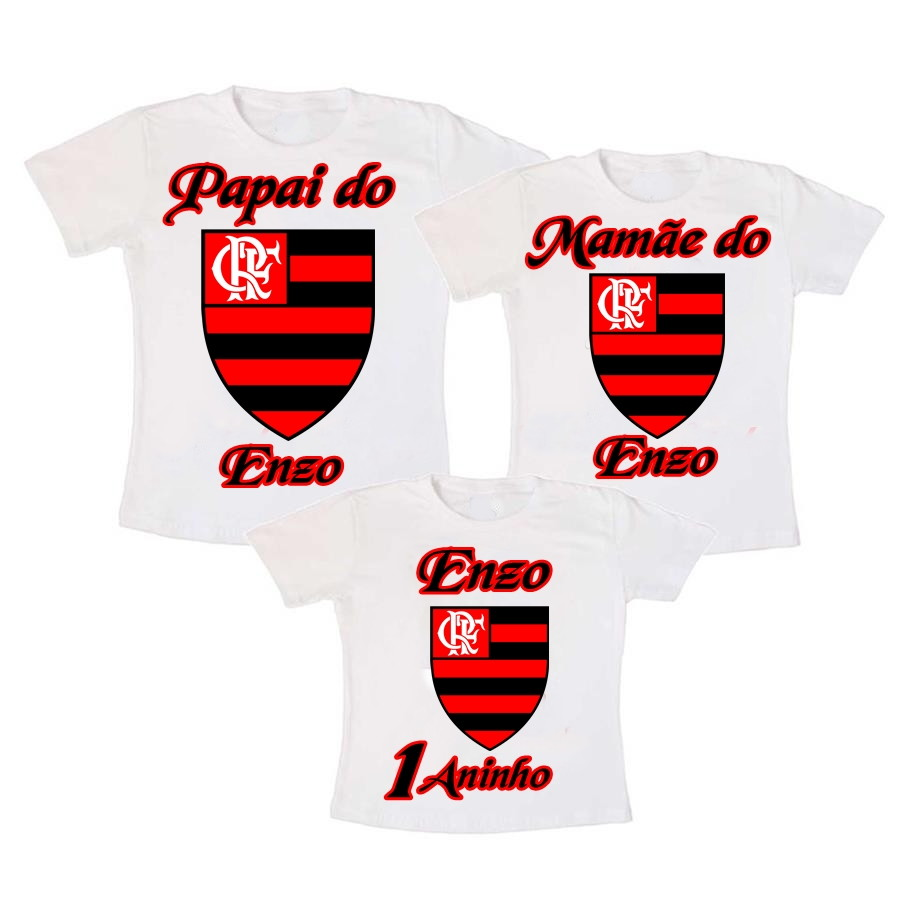 caac51aadb Kit 3 Camiseta do Flamengo Aniversario no Elo7 | Lv Adesivos e ...