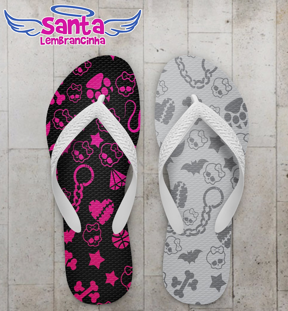 d5674affe Chinelo Estampa Monster High Infantil no Elo7 | Santa Lembrancinha ...
