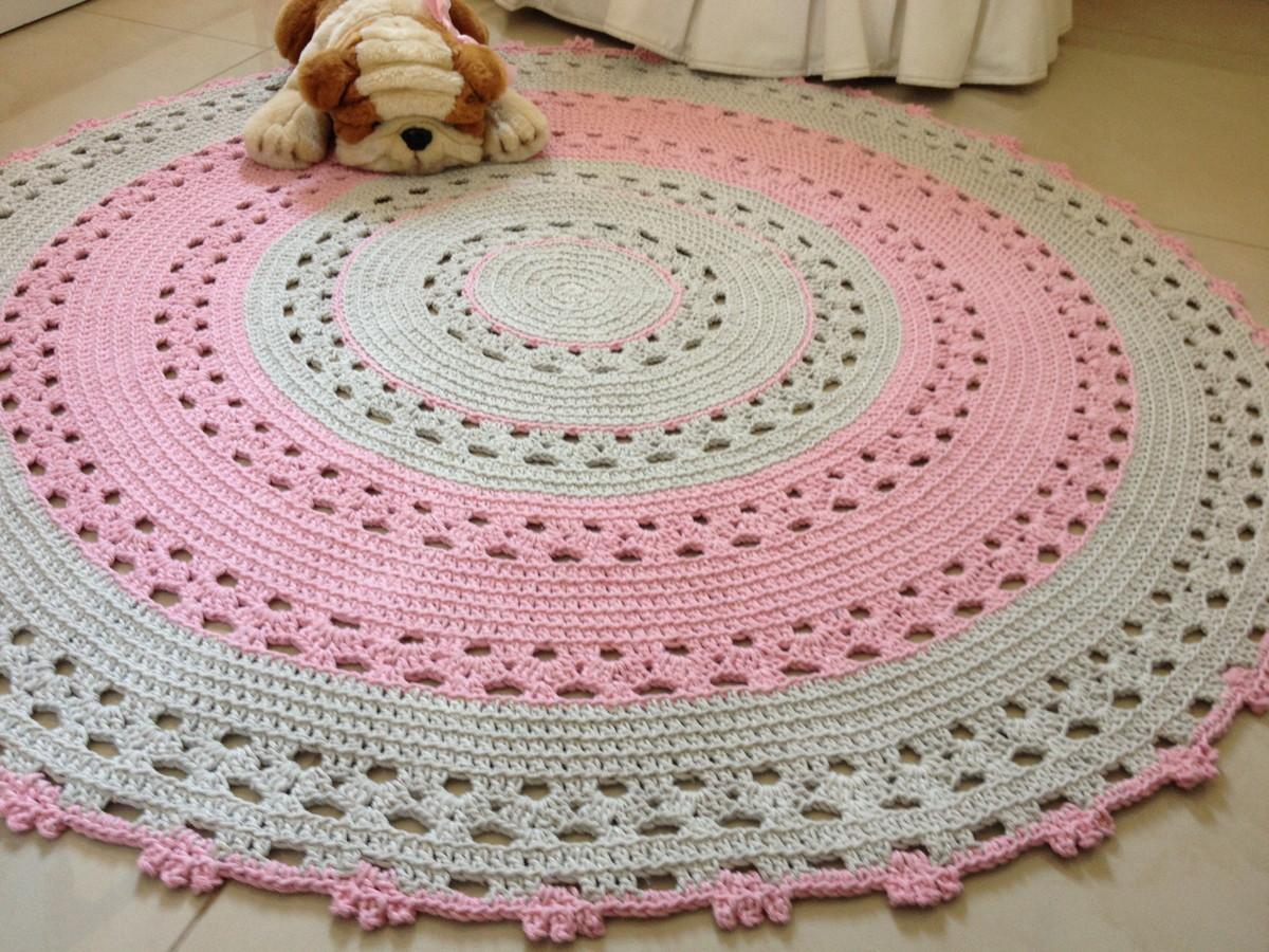 tapete de croch rosa baby betina ateli vera peixoto elo7. Black Bedroom Furniture Sets. Home Design Ideas