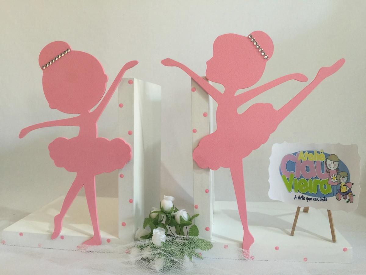 Adesivo De Espelho Para Banheiro ~ Aparador de Livros tema bailarina ATELI u00ca CLAU VIEIRA Elo7