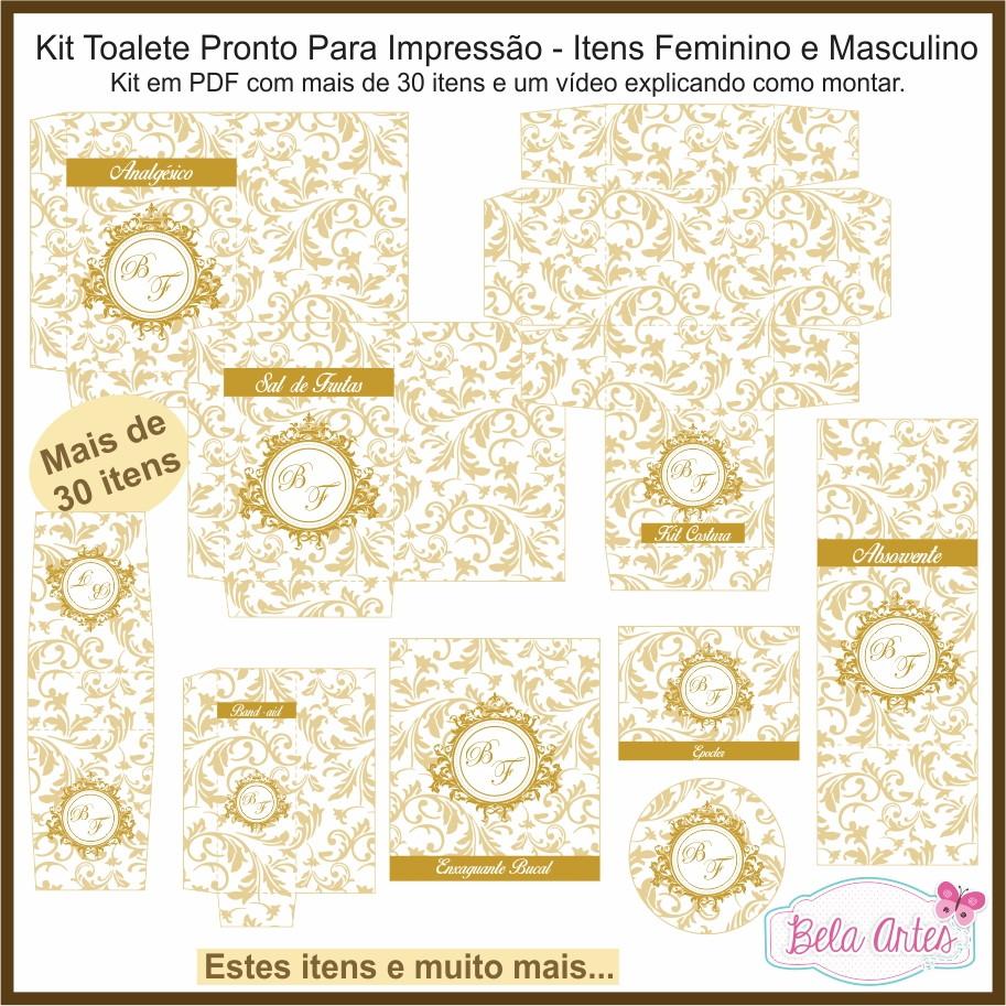 Kit Toalete Para Impressao Com Monograma No Elo7 Bela Artes
