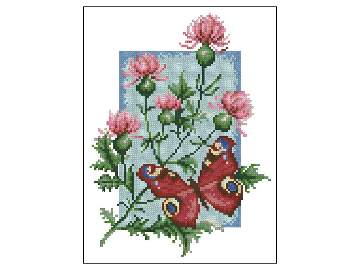 42167abec Borboleta e Flores - Gráfico Ponto Cruz no Elo7 | Thimage - Gráficos ...