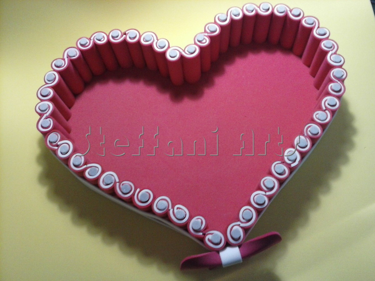Cesta Coração De Rolinhos No Elo7 Steffani Arts 734406