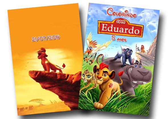 Revista Colorir A Guarda Do Leão 14x10 No Elo7