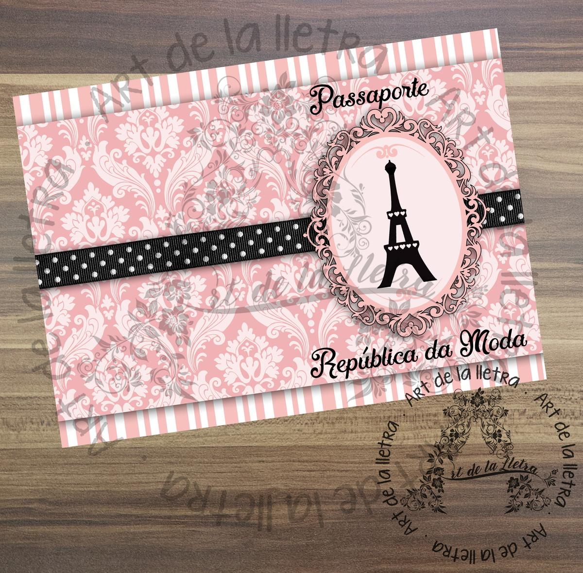 Convites Barbie Em Paris No Elo7 Art De La Lletra 73715b