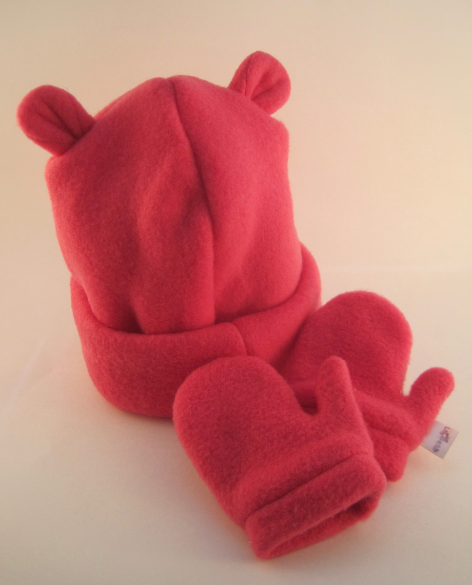 Kit Gorro e Luva soft Pink - 1 ano no Elo7  03906ea9952