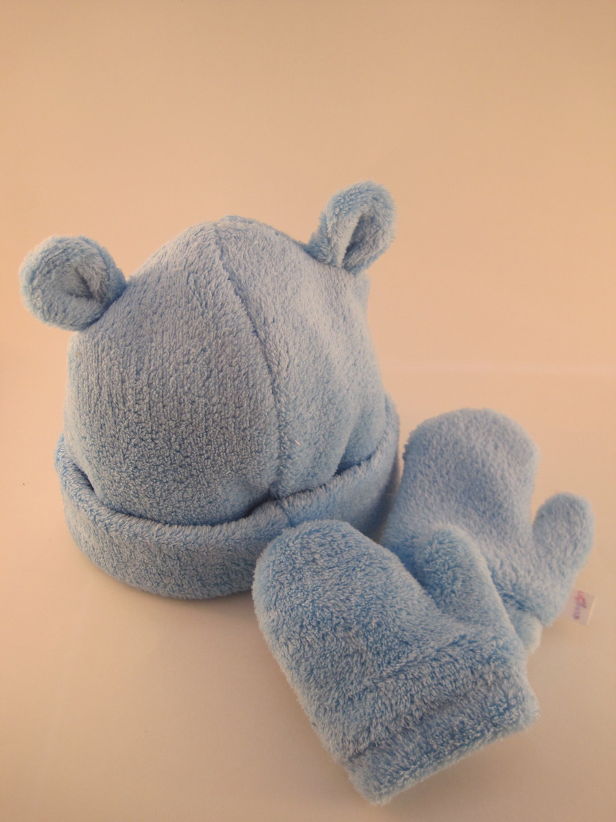Zoom · Kit Gorro e Luva soft Azul - 3M 3f94b5789d1