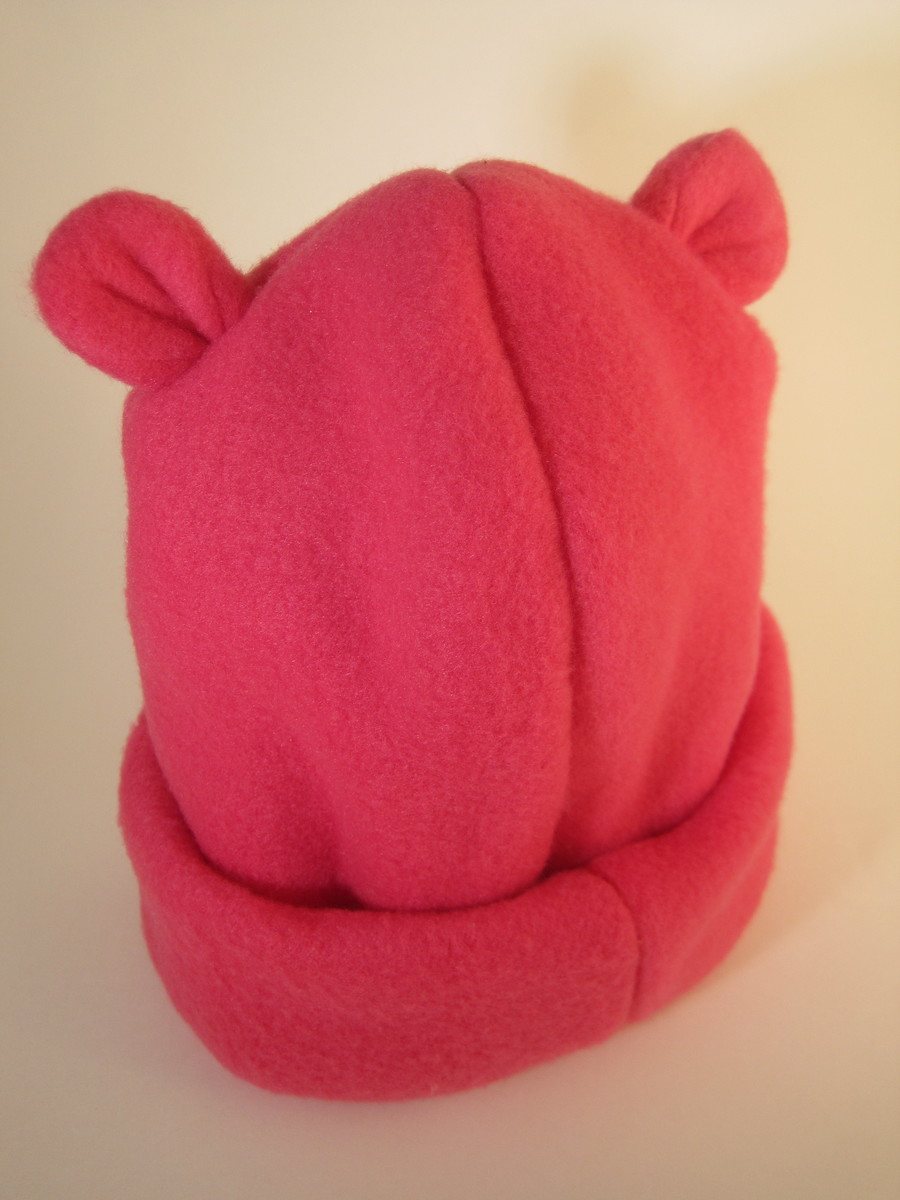 Gorro orelha urso em Soft Pink - 1A no Elo7  cd8bc57ad02