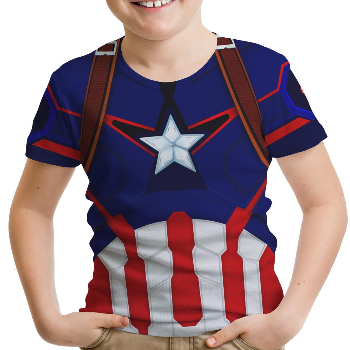 0c7e5bf00 Camiseta Infantil Capitão America 01 no Elo7