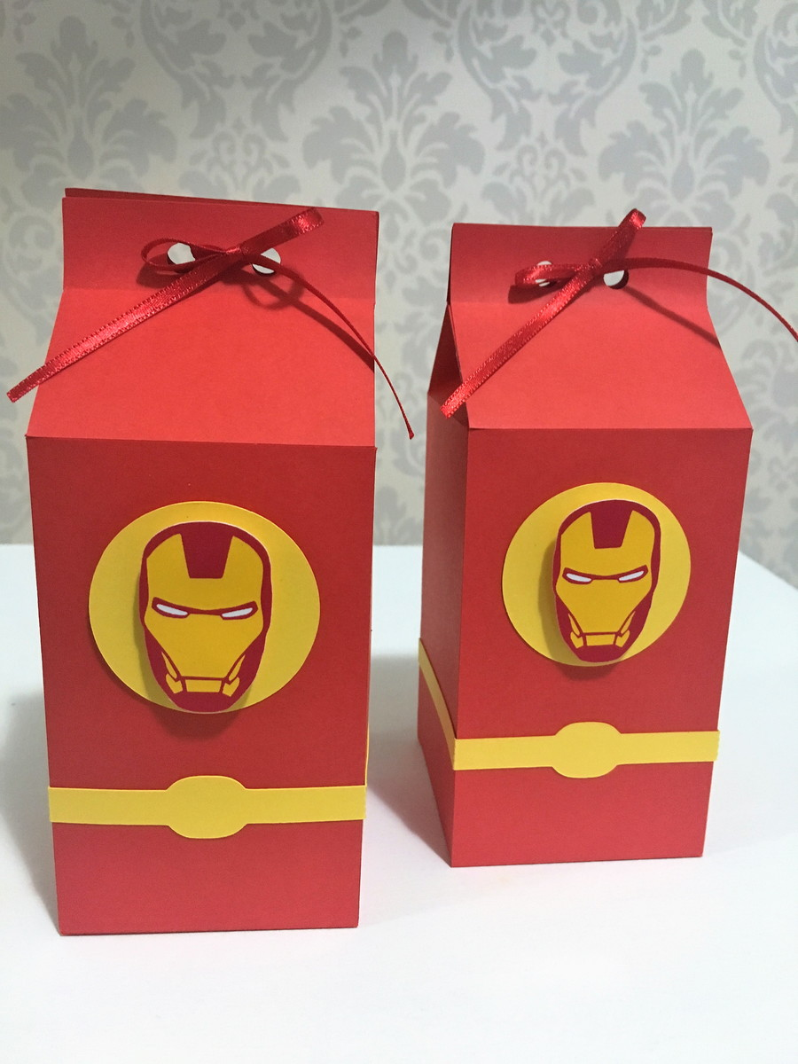 Mini Cachepot Iron Man 3 08 unidades Regina Festas