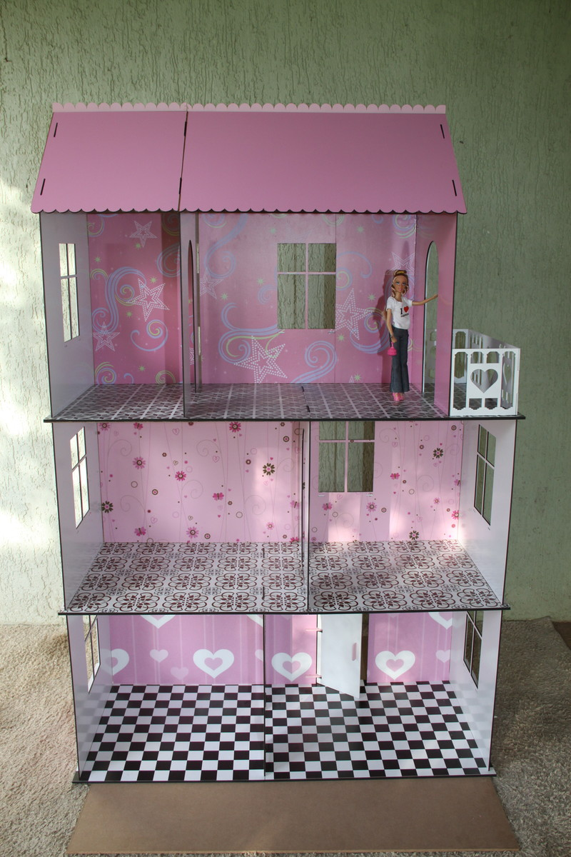 Casa da barbie em mdf 3 e 6mm no elo7 fablaser 7414ea for E casa com
