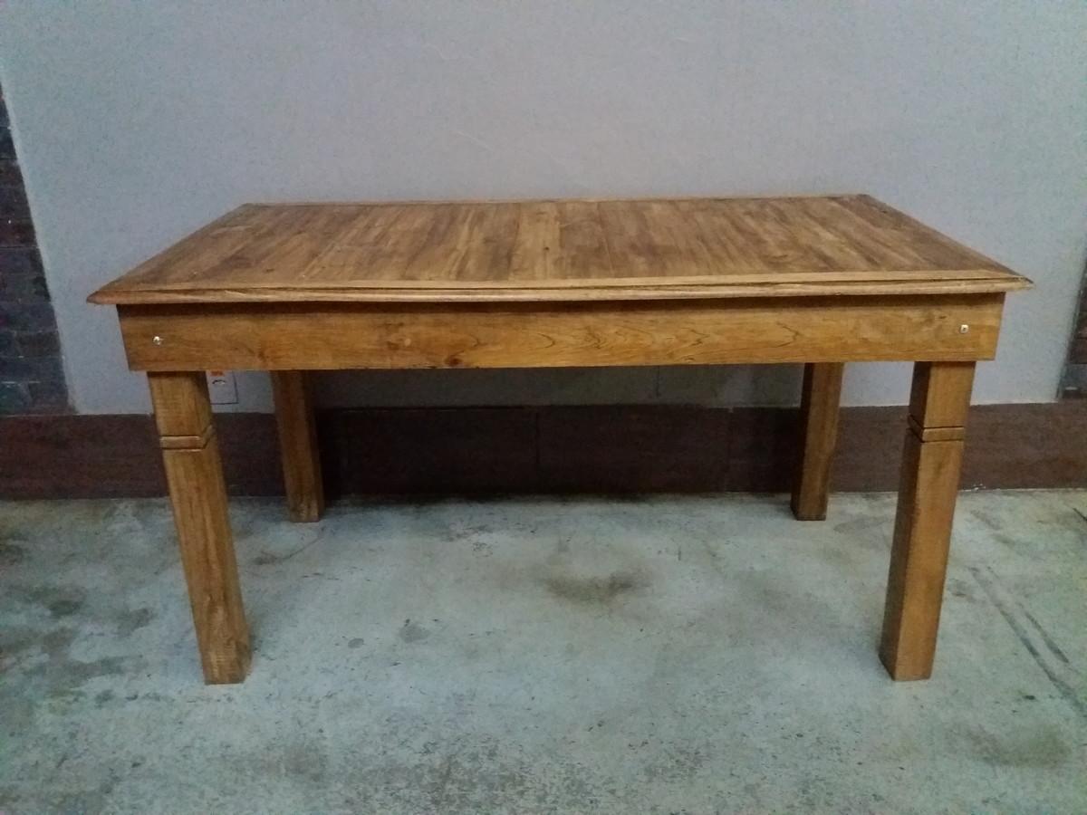 Loca o mesa r stica imaginalle loca o de m veis e - Mesas de salon rusticas ...